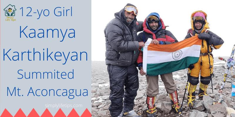 Kaamya Karthikeyan Summited Mount Aconcagua