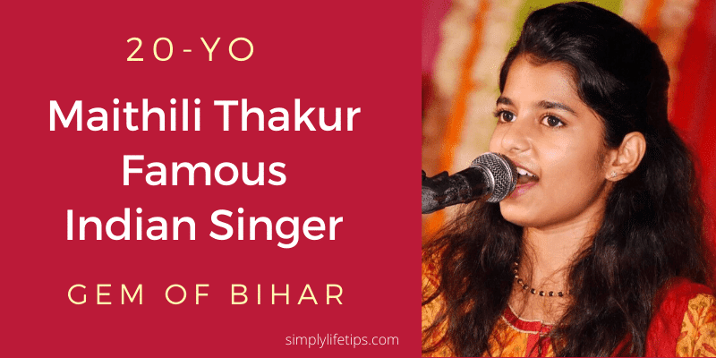 Maithili Thakur Famous Indian Classical Singer