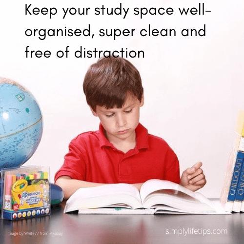 Study hacks - organised study room