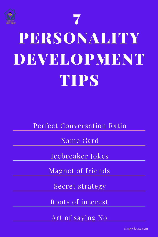 7 Personality Development Tips