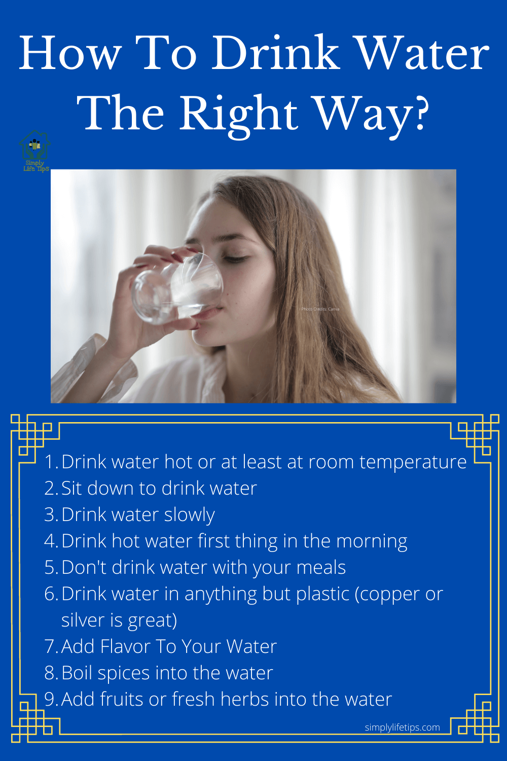 How to drink water the right way