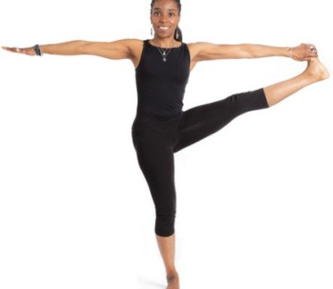 Extended hand to big toe pose