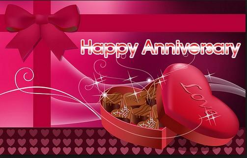chocolate happy anniversary gift