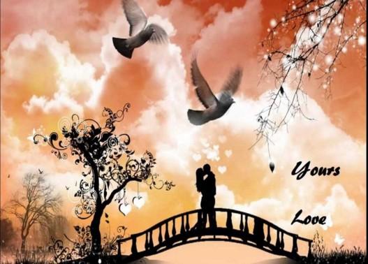 romantic image for anniversary on bridge