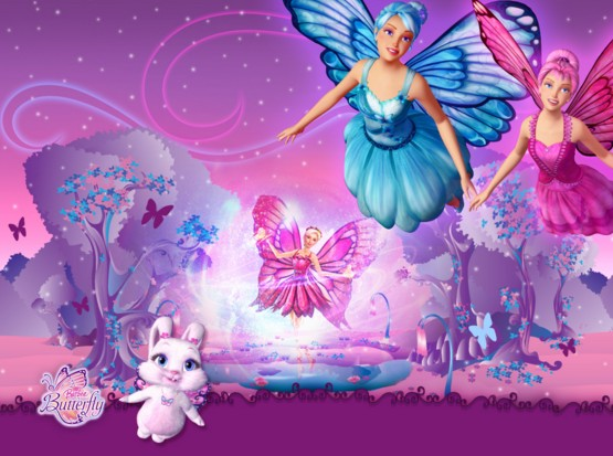 beautiful barbie doll photo with rabbit hd wall paper