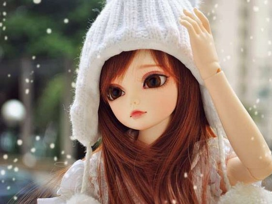 lovely barbie doll in snow hd wall paper