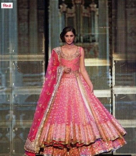 lehenga in pink for bridal