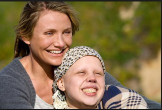 lovely cameron diaz with out make upwith kid