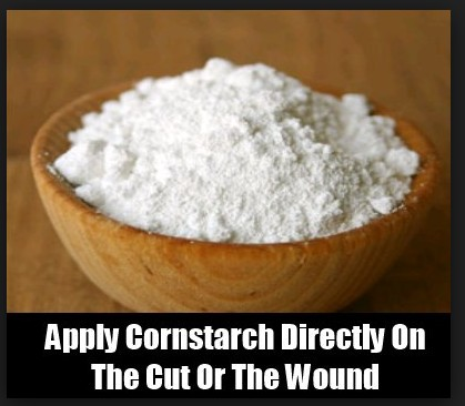 Use Of corn flour To Stop Bleeding