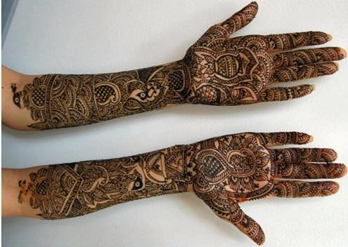Mehndi Bridal Design : Top bridal mehndi designs for full hands front and back step