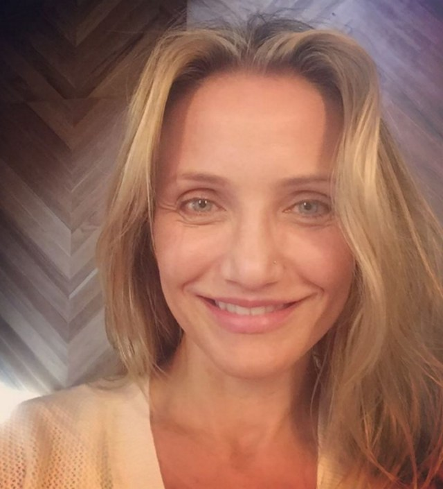 selfie cameron diaz with out makeup