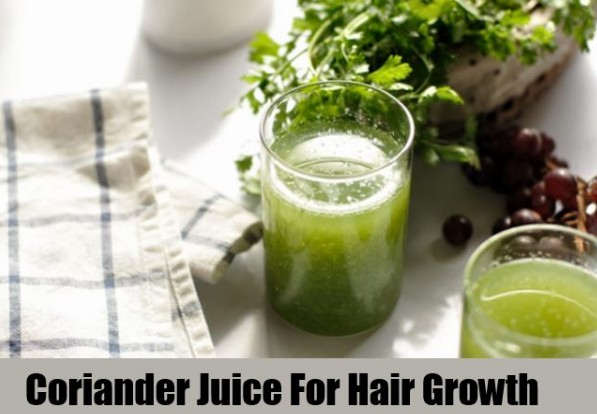 coriander juice to prevent hair fall