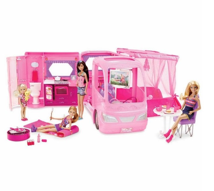 sweet different barbie working