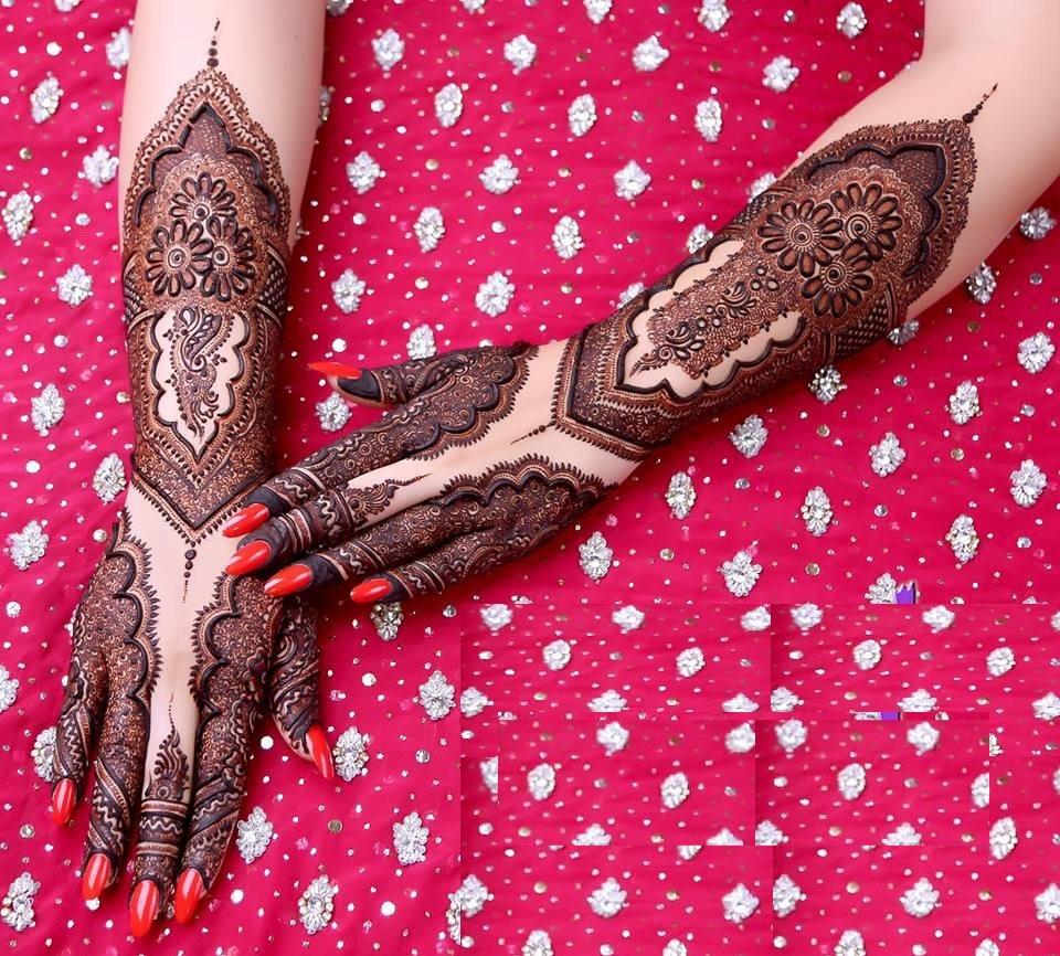 Mehndi design 2017 in pakistan - Designer Mehndi Design For Brides Back Side