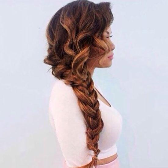 one sided braided haircut