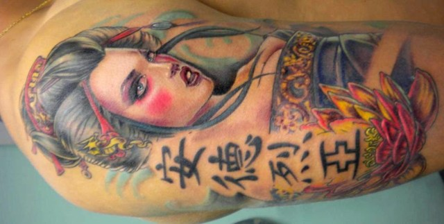 geisha tattoo for females