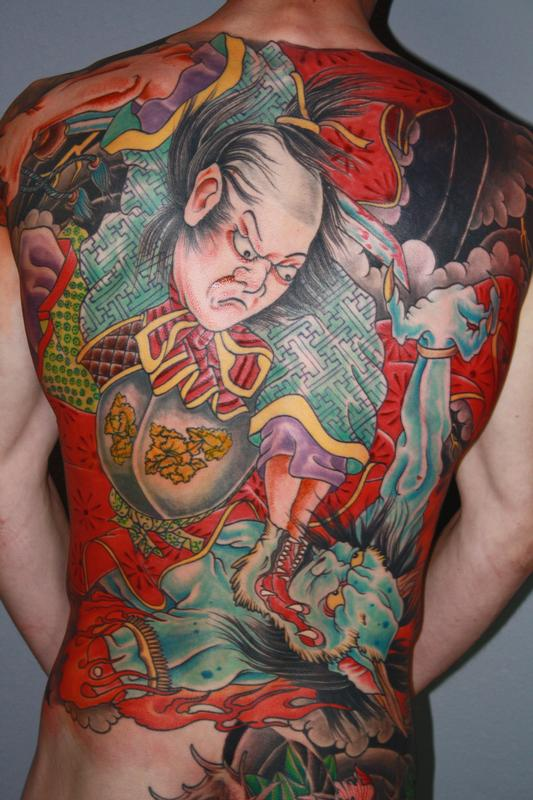 fighting samurai tattoo