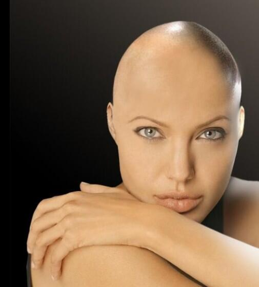 Angelina jolie with out makeup and hair