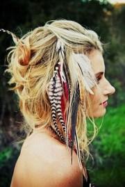 creative hippie hairstyle