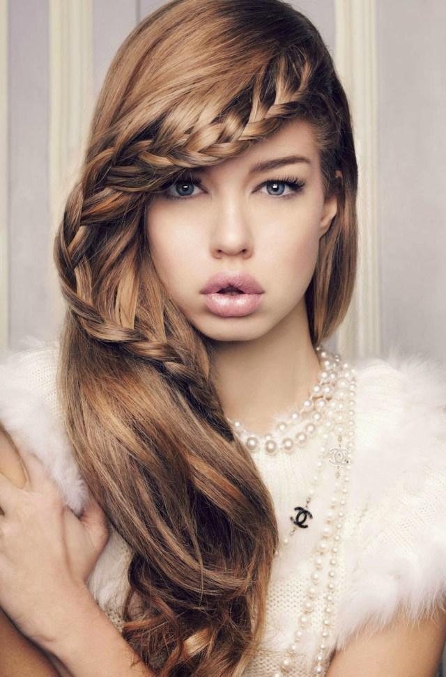 braided hippie hairstyle