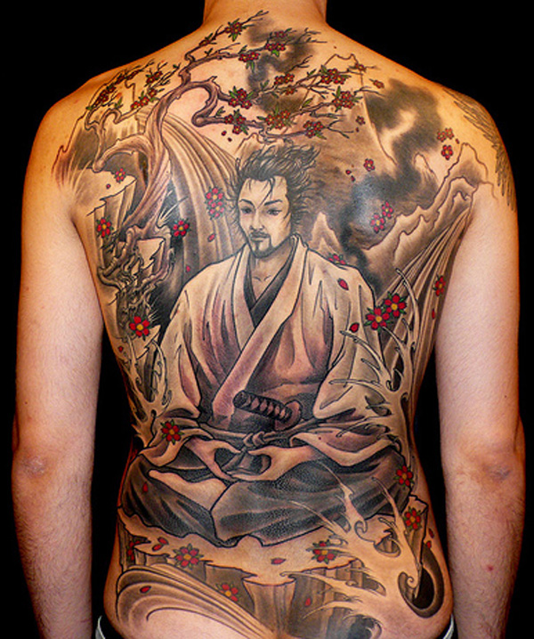 Japenese men tattoo