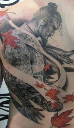 men in japanese tattoo design