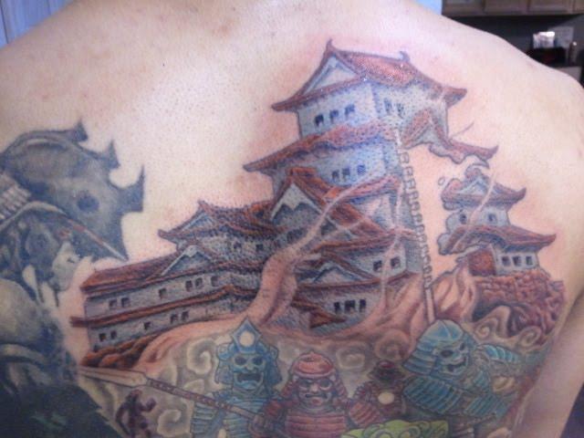 samurai back piece tattoo