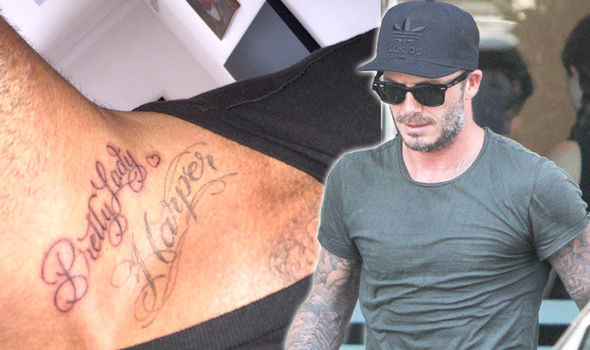 david-beckham-tattoo for her daughter