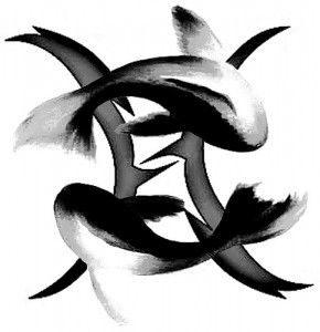 black fish gemini tattoo