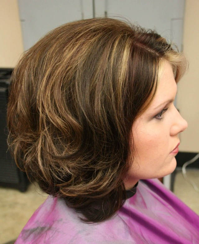 bouncy bob hairstyle for women over 50