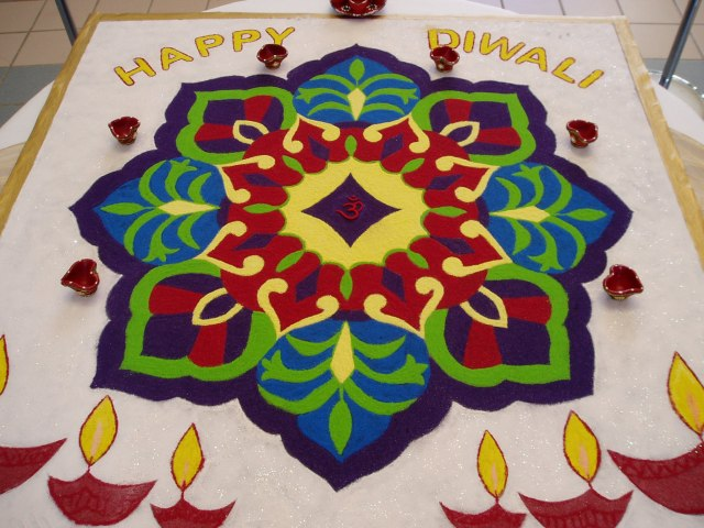 colored rangoli design