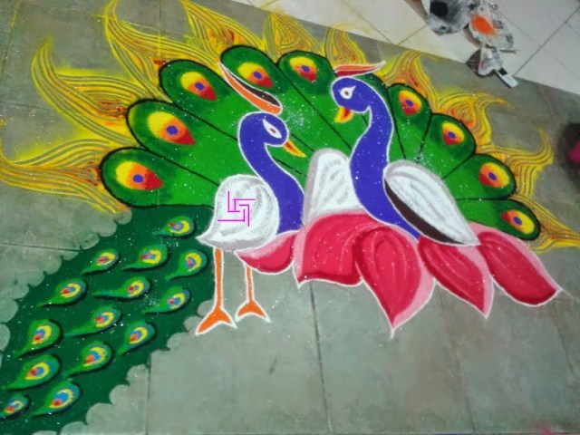 stylish rangoli design