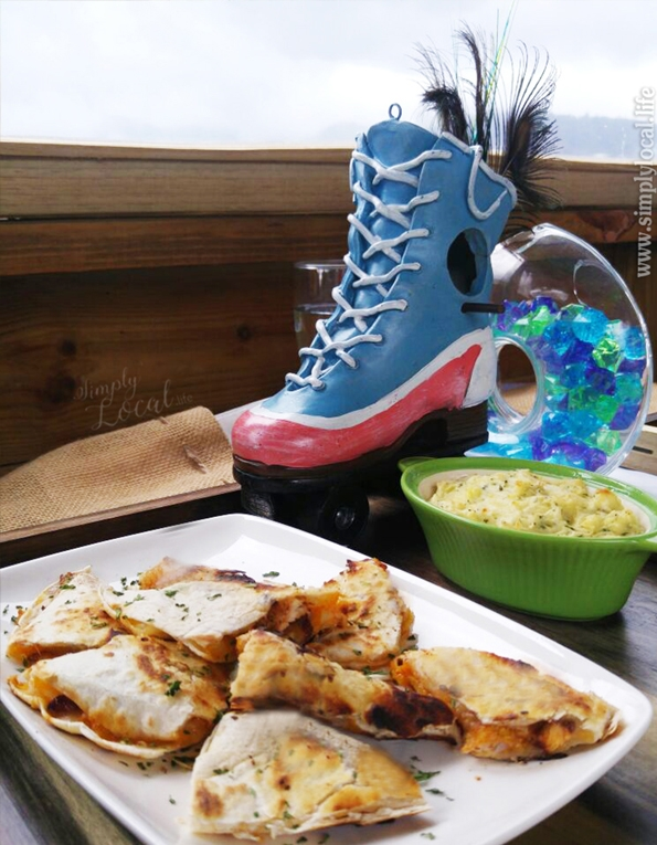 Quesadillas & mashed potatoes