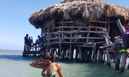 Drink in the Caribbean Sea at Floyd's Pelican Bar
