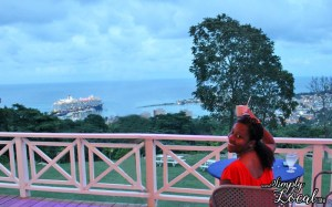 Drink with view of Ocho Rios at Oceans on the Ridge