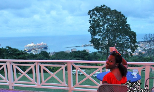 Overlooking Ocho Rios at Oceans on the Ridge Restaurant