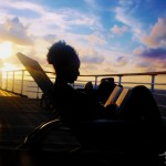 Carnival Tropical Cruise girl sunset book read