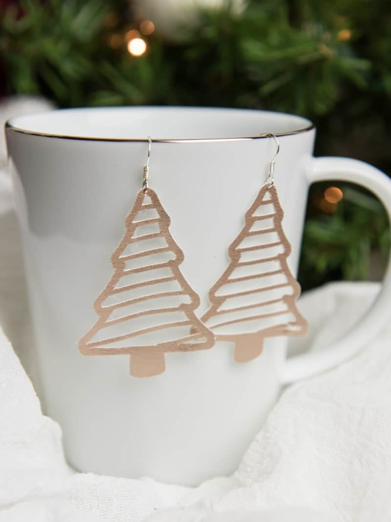 It's nothing against real trees; Faux Suede Christmas Tree Earrings Simply Made Fun