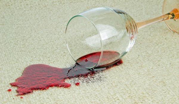 Spilled Red Wine on Carpet