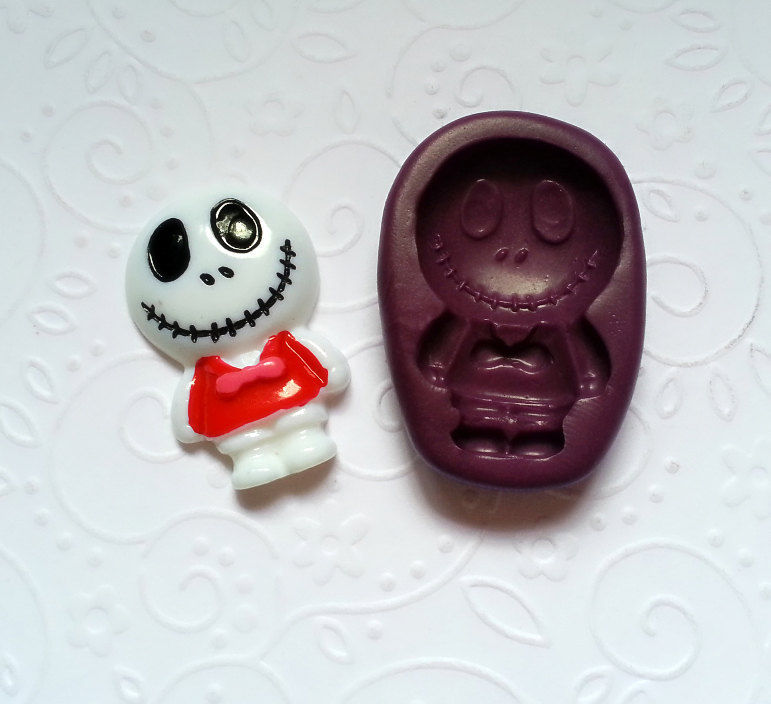 Silicone Mold Nightmare Before Christmas Jack Mould 32mm