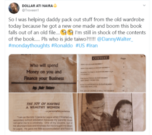 Nigerian man shares photographs of 'how to get a Sugar Mummy' book he found in his dad's closet