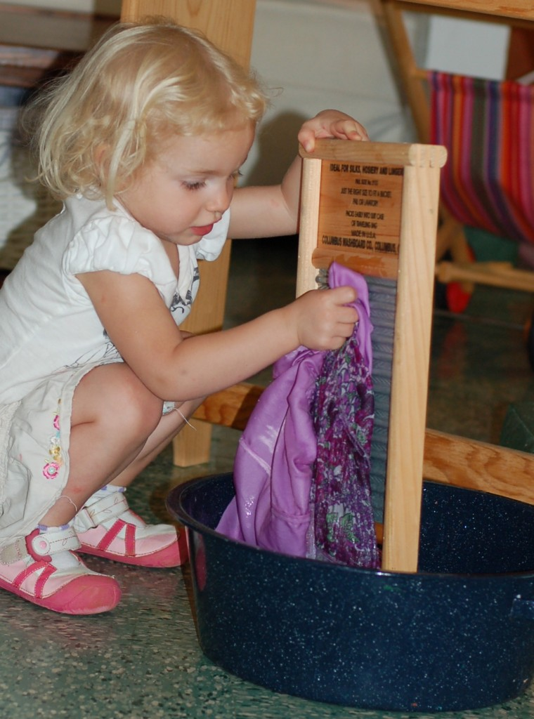 Montessori laundry with toddlers and our DIY set up  Simply Natural Mom