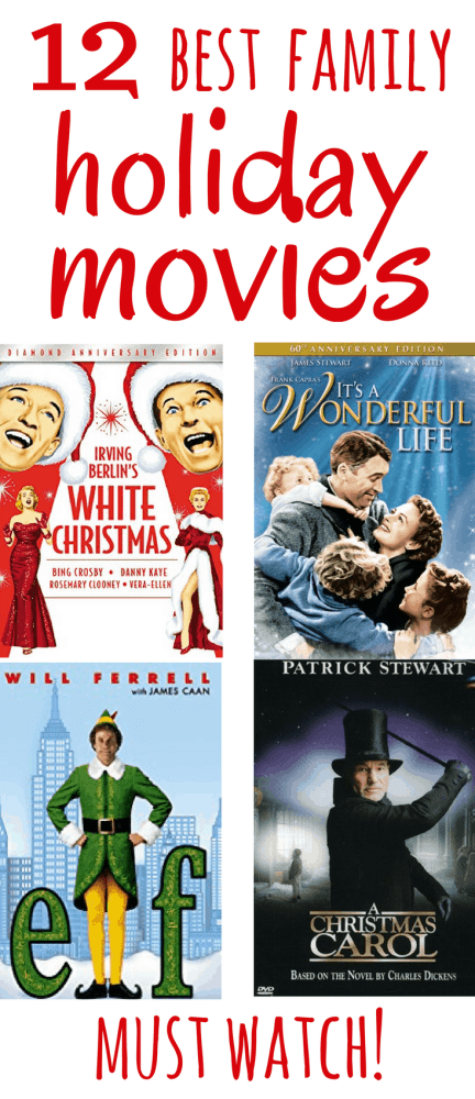 "Here are the 12 best Christmas movies that the whole family will love. Some old, some new, all classics - you need to watch them all every year! There are no ""iffy"" or ""ok"" movies in this list... they are all absolute gems of Christmas goodness."