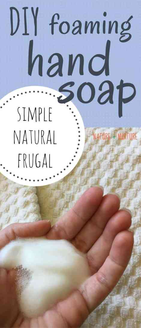 If you want to learn an natural, easy, inexpensive method for how to make DIY foaming hand soap, look no further! This recipe couldn't be easier.