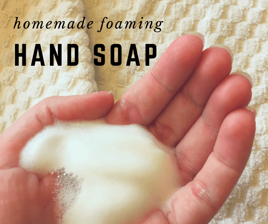 All Natural, Frugal Foaming Hand Soap
