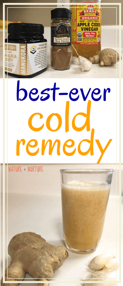 "Discover how to get rid of a cold fast with this amazing natural cold remedy, homemade ""super tonic"" with a step-by-step tutorial."