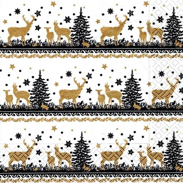 Christmas Napkins Festive Patterned 3-Ply Paper Serviette