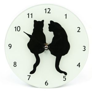 Large Glass Animal Print Design Wall Clock