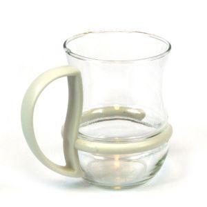 Tea Coffee Glass Mug with Coloured Detachable Handle