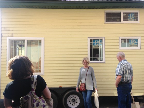 at the end of the day, a guy pulled up with a tiny house he's been working on since he attended last year's spring workshop. what a treat!